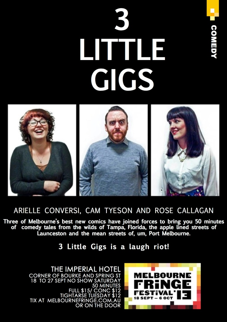 3 Little Gigs poster