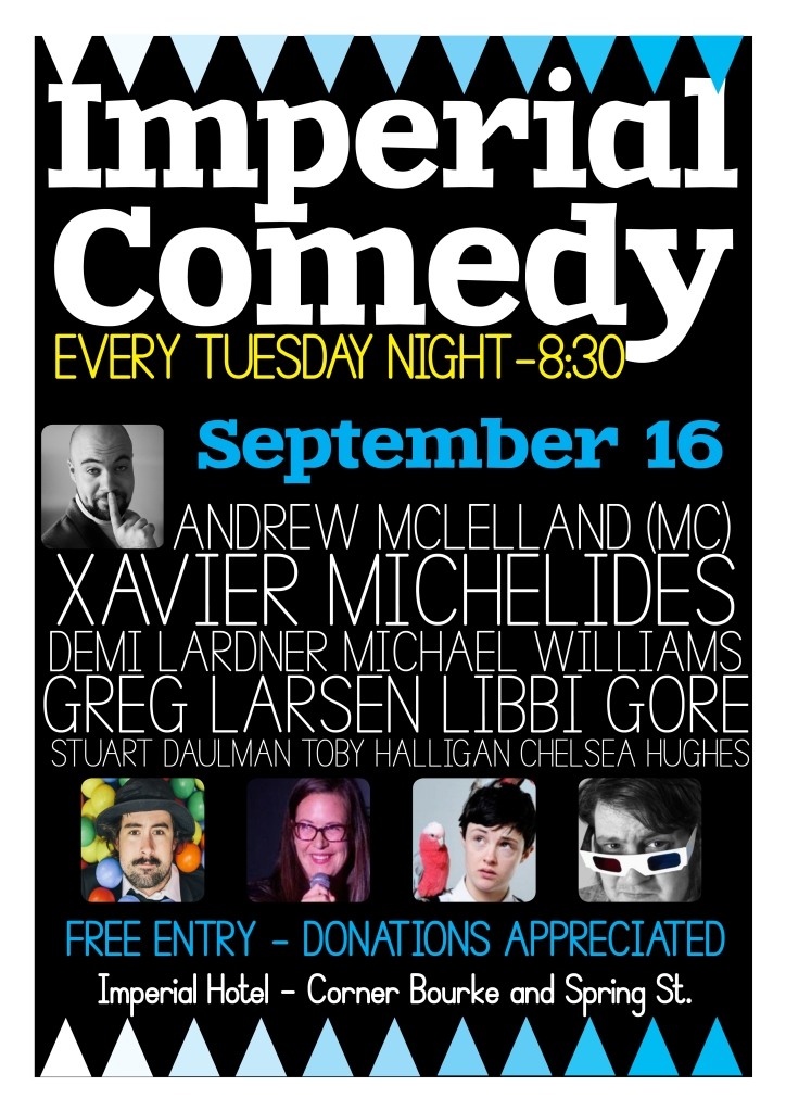 Imperial COmedy Sept 16