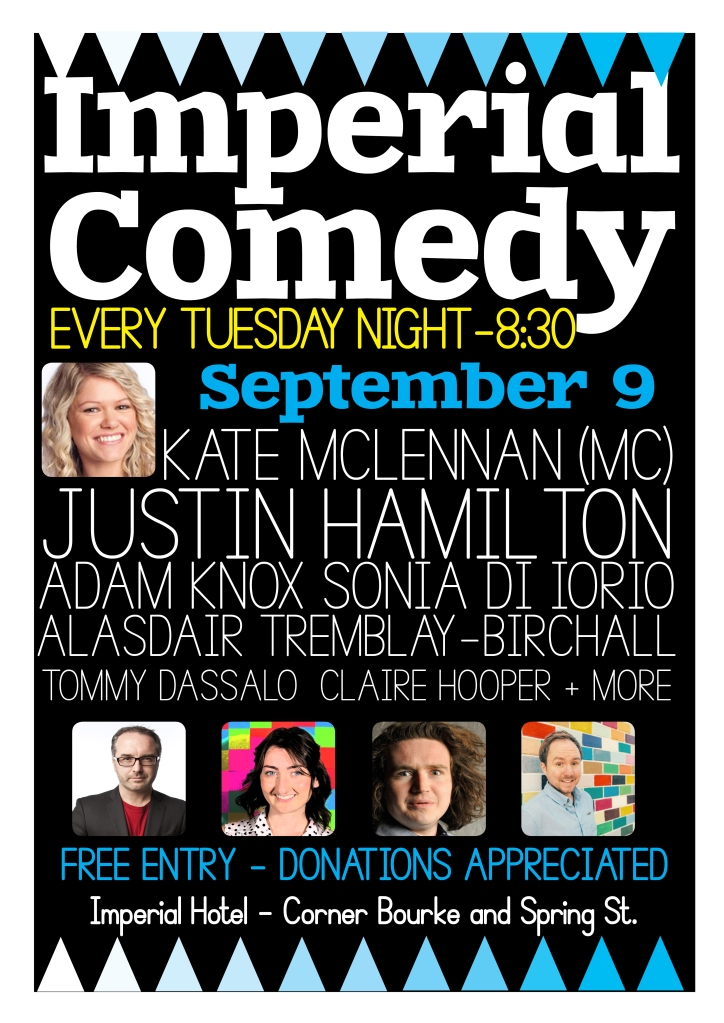 Imperial COmedy Sept 9