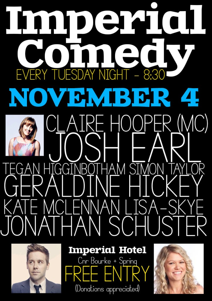 Imperial Comedy Nov 4