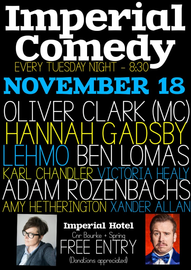 Imperial Comedy Oct 28-Recovered