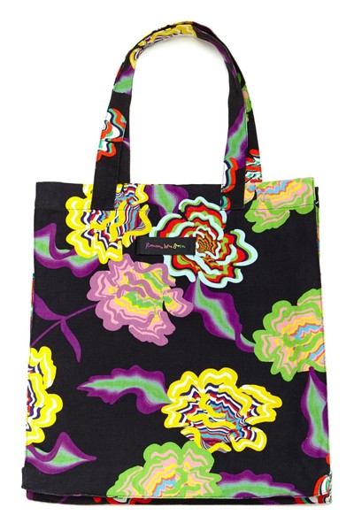 Tote Bag Black Flower F
