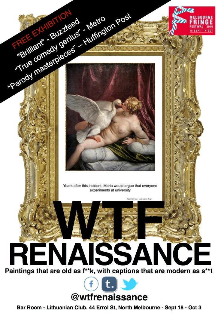 wtf renaissance melbourne poster
